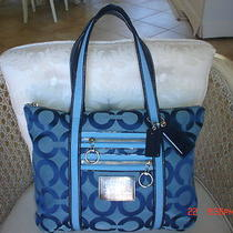 Coach Poppy Signature Glam Tote ( Blue Jean)    13826 Photo