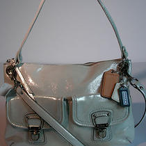 Coach Poppy Silver Metallic Stardust Leather Hippie Shoulder & Crossbody 258 Photo