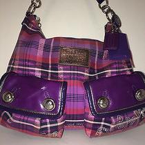 Coach Poppy Tartan Plaid Berry Multi-Color Shoulder Handbag (Free Shipping) Photo