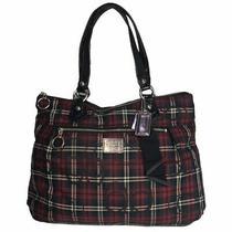 Coach Poppy Tartan Plaid Glam Tote Bag Purse 18713 Handbag Signature Fabric Photo