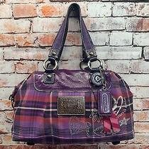 Coach Poppy Tartan Plaid Satchel Purse Handbag 15884 Photo