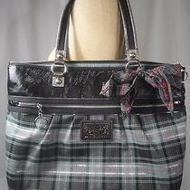 Coach Poppy Tartan Plaid Tote Handbag 15886 With Dust Bag Photo