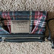 Coach Poppy Tartan Plaid Wristlet Clutch Wallet  Photo