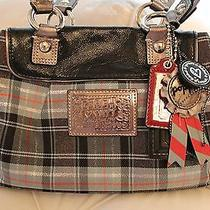 Coach Poppy Tartan Satchel Photo