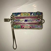 Coach Poppy Wristlet Wallet Pop C Glam Multicolor Photo