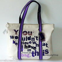 Coach Poppy You Wouldn't Believe Signature C Glam Sequin Purple Tote Bag Purse  Photo