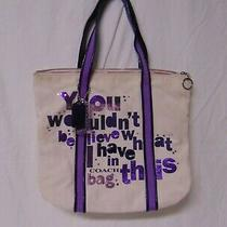 Coach - Poppy You Wouldn't Believe Signature Shoulder Glam Tote Bag. Photo