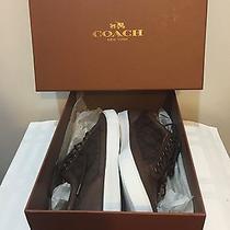 Coach Porter Low Top Signature Sneakers Mahogany Size 8d Men or 9.5 Women Nib  Photo