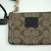 Coach Pouch Women's Carriage 1941 Brown Signature C  Wristlet Bag Photo