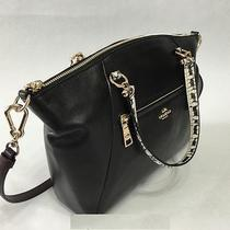 Coach Prairie Satchel in Colorblock Exotic Embossed Leather Upc 889532009640 Photo