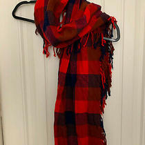 Coach Pre-Owned Women Check Scarf in Navy and Red Photo