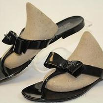 Coach Pretty New Womens 8 38 Black Flip Flops Sandals Shoes Qu Photo