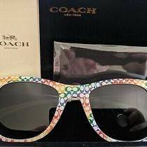 Coach Pride Rainbow Square Sunglasses New Limited Edition Photo