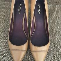 Coach Pumps in Tan Leather Size 9.5 Photo