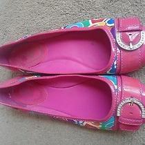 Coach Puppy Multi Color Womens Ballet Flat Shoes Size 9.5b Photo