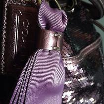 Coach Purple Cross Body Sequin Handbag Photo