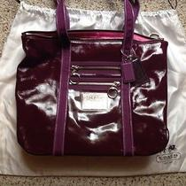 Coach Purple Handbag Tote Photo