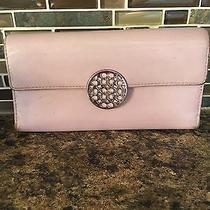 Coach Purple Lavender Leather Tri-Fold Wallet  Photo