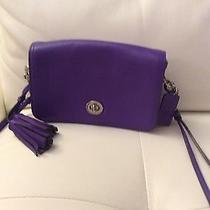 Coach Purple Leather Crossbody Bag Photo