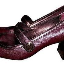 Coach Purple Leather Mary Janes Size 5b Photo