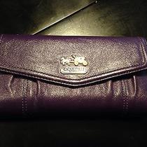 Coach Purple Leather Wallet Photo
