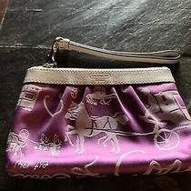 Coach Purple & Off White Wristlet Photo