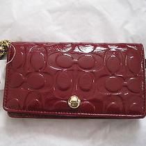 Coach Purple Patent Leather Wallet  Wristlet Nwt Photo
