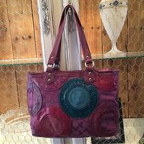 Coach Purple/pink Snaphead Pieced Patchwork East-West Tote F15466 Photo