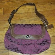 Coach Purple Signature C Hobo Bag Purse Shoulder Bag Photo
