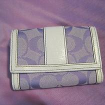 Coach Purple Signature Wallet Photo