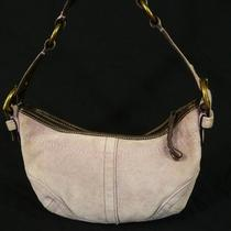 Coach Purple Suede Hobo Bag Handbag Photo