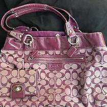 Coach Purple Tote With Matching Wallet Photo