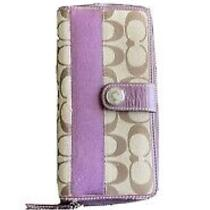 Coach Purple Wallet Photo
