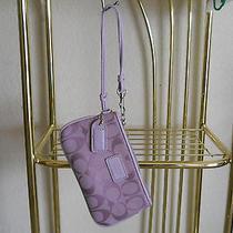 Coach Purple Wristlet Bag Purse Photo