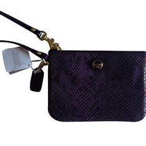 Coach Purple Wristlet F50162 / Retail Price  78 Photo