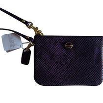 Coach Purple Wristlet F50162 / Retail Price  78 Photo