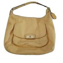 Coach Purse Bag Kristin  Yellow Leather Hobo Style F22309 Photo