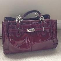 Coach Purse / Bag Patent Red Burgundy Handbag Photo