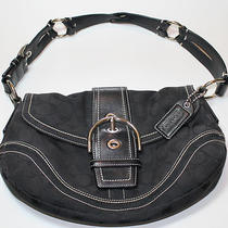 Coach Purse Black and Silver Photo