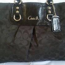 Coach Purse Black  Carry All Ashley Bag Black Handbag Authentic  Photo