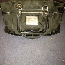 Coach Purse- Black Poppy Collection Photo