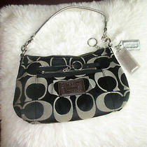 Coach Purse Black Silver Cute Nice Classy Handbag Evening Purse Euc Photo