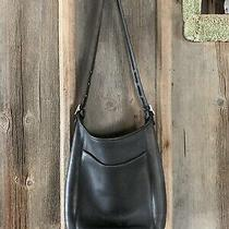 Coach Purse. Black. Silver Hardware. Lots of Character. Authentic Stamp Inside Photo