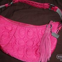 Coach Purse - Bright Pink Quilted Tassel Photo