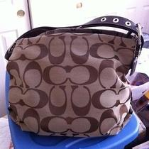 Coach  Purse Brown on Brown Handbag Hobo Style Photo