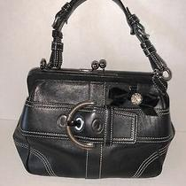 Coach Purse C05s-8a12 Kisslock Black Photo