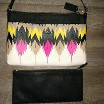 Coach Purse Crossbody 2 Piece Tribal Pink Black/yellow/white Certified Authentic Photo