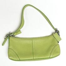 Coach Purse Green Pebbled Leather Photo