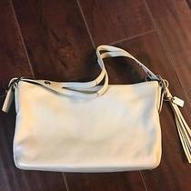 Coach Purse Handbag Bone Off White Cream Leather Classic Photo