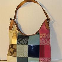 Coach Purse Hobo Bag 13.5 X 13.5 In. Patch Design Photo